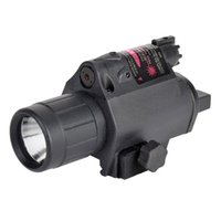M6 Lanterne Tactique Laser Rouge Pas Cher-SINAIRSOFT Hot Sale LED Light + Red Laser Sight 2 en 1 Airsoft Hunting M6 CREE LED Torch Tactical 200LM Laser Flashlight Tail Switch