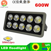Wholesale Power Projects - LED flood light high power COB 50W 100W 150W 200W 300W 400W 500W 600W water proof outdoor lights AC85-265V project lamp wholesales retails