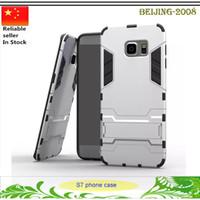 пластиковые стойки для телефона оптовых-Новый дизайн гибридный Железный Человек комбо броня пластиковые ТПУ стенд телефон чехол для Samsung Galaxy S7 Edge S6 Edge Примечание 5