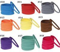 Wholesale Diy Elastic Hair Band - 31-color, high-quality nylon elastic hair band newborn DIY Pop Seamless elastic hair band baby headband with accessories 2016 E198