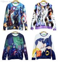 Wholesale Batman Sweatshirt Woman - Wholesale-HOT! 2015 New High quality Women Men Batman gay kiss Print 3D Sweatshirts Hoodies Galaxy clothes Tops Free shipping