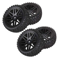 Wholesale Rc Cars Off Road Tires - 4pcs Wheel Rim & Rubber Tyre Tires Front & Rear for RC 1 10 Off-Road Car By