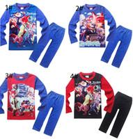 Wholesale Nick Winter - Zootopia Pajamas Kids Boy Crazy Animal Cit Pajamas 100% Cotton Cartoon Nick Wilde Judy Hopps long Sleeve + Pants 2pcs Suit