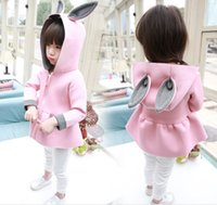 Wholesale Cheap Pink Hoodie - 1-4 years girls cartoon hoodies cheap kids spring & autumn cardigan coat 2016 new BB fashion long-sleeved clothes free shipping D3