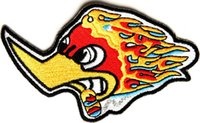 Wholesale Chest Clothes - Fashional Smokin Duck Biker Patch Embroidered patches Left Chest Size DIY Clothing Patch Free Shipping