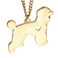 Wholesale teddy pendant chain - American Teddy pendant Silver Necklace Small Necklaces Pendants Women Hot Selling Handmade Animal Factory ZJ-0903636