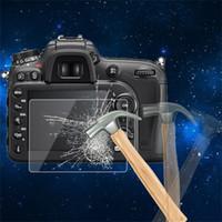 câmeras de guarda venda por atacado-0.5mm câmera de vidro temperado lcd painel de tela filam protetor hd guarda capa à prova d 'água para nikon d7200 camera atacado digital