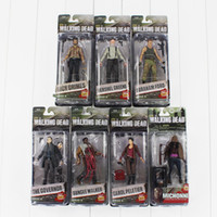 Wholesale Zombies Figures - The Walking Dead Michonne Ford Daryl Dale Zombie Rick Philip PVC Action Figure Collectable Model Toy 12cm free shipping retail