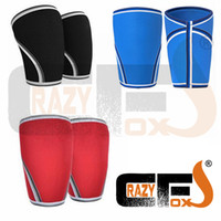 Wholesale Weight Lifting Elbow - [A Pair   2Pieces ] 7Mm Custom Compression 7Mm Neoprene Knee Sleeve  Crossfit Weight Lifting Sleeve
