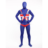 Хэллоуин Британский флаг Lycra Spandex Multicolor Zentai Suits