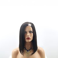 Wholesale Silky Indian Body Wave - 8A Grade 150% Density U Part Wig Silky Straight With Baby Hair Side Part Human Hair Brazilian Unprocessed Wigs