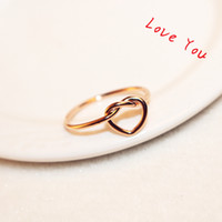Wholesale Costume Prom Wedding Jewelry - Rose Gold Plated Ring Euroean Brand Punk Finger Rings for Women   Girls Party Prom Costume Jewelry Accessories Bijoux
