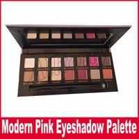 Wholesale Modern Shadow - Modern Eyeshadow Palette Eye Shadow Palette Brush 14 Colors Modern Eye Shadow Palette Pink velvet surface Box Eyeshadow