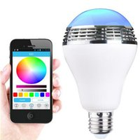 Wholesale Led Color Changing Bulb - SmartBulb Wireless Bluetooth Audio Speakers LED RGB Light Music Bulb Lamp Color Changing via WiFi App Control