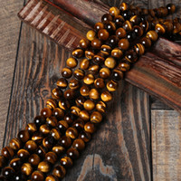 Wholesale Tiger Eye Round Beads - Natural Stone Beads AB+ Yellow Tiger Eye Beads Round Loose Bead For Bracelet Jewelry Making Pick Size: 4 6 8 10 12 14mm