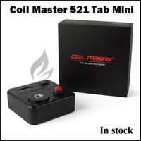 medidor de ohmios vape al por mayor-100% original Coil Master 521 Tab Mini medidores de ohms coilmaster Digital 521 Tab mini ohmímetro para kit de herramientas vape de coil-master v3 libre