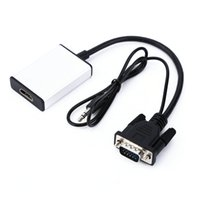 VGA to HDMI Converter Adapter 1080P HD с аудио VGA2HDMI TV AV HDTV Video Cable Адаптер для адаптера для ПК