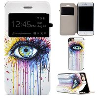 Wholesale Iphone Cases Caller Wallet - Flower Open Window Wallet Flip Leather Pouch Case For Iphone 7 Plus I7 7PLUS Iphone7 Caller ID Stand Eye Girl Love Dream catcher Skin Cover