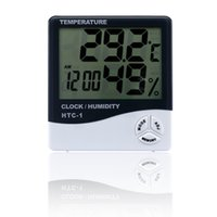 Wholesale Thermometer Hygrometer Humidity - Fashion Indoor Room LCD Electronic Temperature Humidity Meter Digital Thermometer Hygrometer Weather Station Alarm Clock