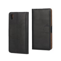 Wholesale Id Holder Flip Wallet - Genuine Real Wallet Leather Case For Sony Xperia X  XA  X Performance XP Flip Money Pocket Cover Purse Credit ID Card Holder Pouches
