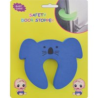 Wholesale Safe Door Stopper - Wholesale- 1pc Baby care Children safe anticollision Corner Guards Baby Safety Door stopper
