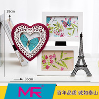 Wholesale Picture Mounts - 6 inch Family photo frame EU Eiffel tower design multi-size rectangle ABS eco - friendly material picture frame can be wall mounted or stand