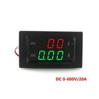 amperímetro de derivación al por mayor-Metro de voltio digital mayor-DC 0-600V / 20A con pantalla LED roja y verde / No necesita derivación externa