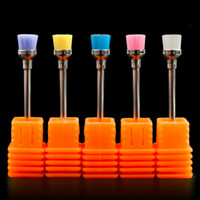 Wholesale File Good - Good 1pc Random Color Electric Nail Art Drill Cleaning Brush 3 32'' Files Bit Cleaning Tools Manicure Drills Accessories