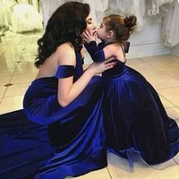 Wholesale Daughter Bride - 2016 New Arrival Mother Mother of the Bride Dress Matching Daughter Dresses Royal Blue Evening Formal Party Gowns Custom Made