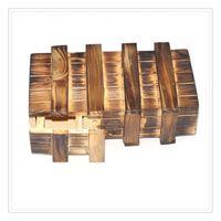 cajas mágicas de madera al por mayor-Venta al por mayor Magic Puzzle Toys Caja de madera con cajón secreto extra seguro Cajas Puzzle Juguetes Inteligencia marrón Puzzle de madera Juego secreto de trucos