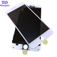 celulares da microsoft venda por atacado-4 em 1 imprensa fria frente tela frontal de vidro com o quadro + o polarizador para iphone 7 6 6 s plus 5 5s substituição da tela
