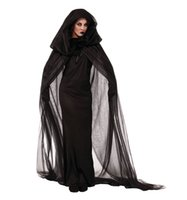 Wholesale Sexy Women Costume Pirate - Plus size Ghost bride black dress Adult Broomstick sexy Witch Costume Halloween Cosplay dress for womenClub wear party costumes