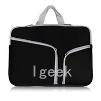 """Wholesale Laptop Coloured Covers - Fasion Soft Zipper Liner Sleeve Hand Bag Case Cover Multiple Colour for Apple Macbook Air Pro 11'' 12'' 13"""" 15"""" Unisex Free DHL"""