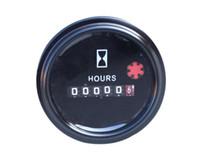 Wholesale Mechanical Generator - Universal Mechanical hour meter TIME hourmeter 331032001G DC 6-80V for generator diesel gasoline petrol engine DC 12V 24V