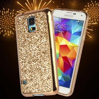 Per Samsung Galaxy s5 s6 s7 edge s8 plus note 5 4 G530 G360 Case Bling Silicone Diamond Case Cover 3D Gold Siliver Glitter Christmas Cover