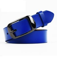 Wholesale Belt Straps For Women - 100% Genuine Leather Belts for Women Cowskin Pin Buckle Casual Leather Strap Solid Color Female Belts Ladies cintos femininos