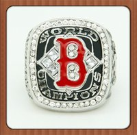 Wholesale Red Sox Championship Ring - Bottom Price For Replica Newest Design 2004 Boston Red Sox Major League Baseball Championship Ring Replica Gold Plated Alloy Rings For Men