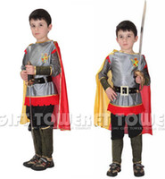M ~ XL Nuovo 2016 Roman Warrior Knight Bambini Cosplay Hallowean Carnival Party Boy Prince King Bambini Costumi Masquerade Suit