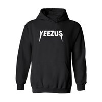 Wholesale Winter Hoodies For Men Wholesale - Fashion Brand yeezus Hooded Sweater for Men Women Winter Casual Cotton Sweatshirts Fleece Pullover Long Sleeve Hoodies and Sweatshirts