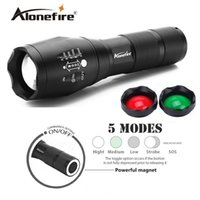 Wholesale Red Green White Flashlight - AloneFire G700-N 3800LM Cree led flashlight XML T6 LED White Green Red Tactical flashlight Handheld Hunting Camping Lantern