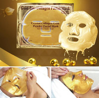 Wholesale Crystal Collagen Bio - Gold Bio-collagen Face Mask Crystal Collagen Gold Powder Facial Mask Moisturizing Whitening Anti-aging Masks & Peels Face Skin Care by DHL
