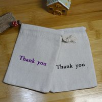 Wholesale Wedding Thank Gift Bags - Thank you Gift Bags Baby Showe Birthday Party Wedding Favor Holder Jewelry Drawstring Pouch