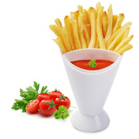 Wholesale fries cup resale online - French Fries With Vegetable Salad Cup Creative Oblique Mouth Western Style Food In Tableware Kitchen Potato Tool tt F R