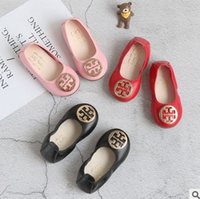 Wholesale Kids Party Shoes Size - Kids shoes christmas baby girls party shoe kids metal buckle red princess single footwear girls shallow mouth dance shoes Size 21-35 R0119