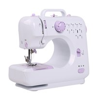 Wholesale Multi Function Machine - 12*28*24Cm Mini Sewing Machine Portable Lightweight Sewing Machine Multi Function 12 Built In Stitches Mending Machines