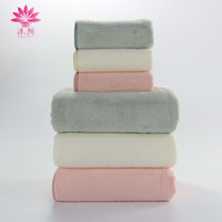 muito grande 3pcs / set Superfine Ultrasmooth Soft Polyester Reactive Dyes Double-sides Weaving Square Washrag Rectangle Towel Shower Bath Spa Towel