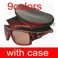 Wholesale Designer Glass Cloths - free shipping 9colors Fashion riding Sunglasses Women Sports cycling sunglasses+zipper box+cloth men brand Designer Glasses UV400 Big T a c