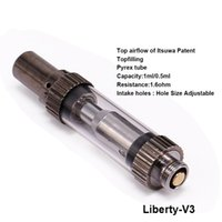 Wholesale Ego V9 - Original Itsuwa Amigo Liberty V3 adjust intake hole Glass Thick oil Atomizer CO2 Cartridge 1ml .5ml liberty V4 V5 V9 For ego battery