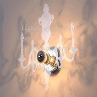 lámparas de pared espejo al por mayor-Al por mayor-moderno Ligne Roset Wall Light Proyectivo Louis 5D Ilusividad Vela Lámpara de pared Espejo Sombra de iluminación