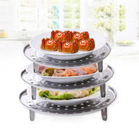 Acier inoxydable Steamer Rack Insert Stock Pot Panneau à vapeur Stand Cookware Tool Cake Cooling Tray LZ0297